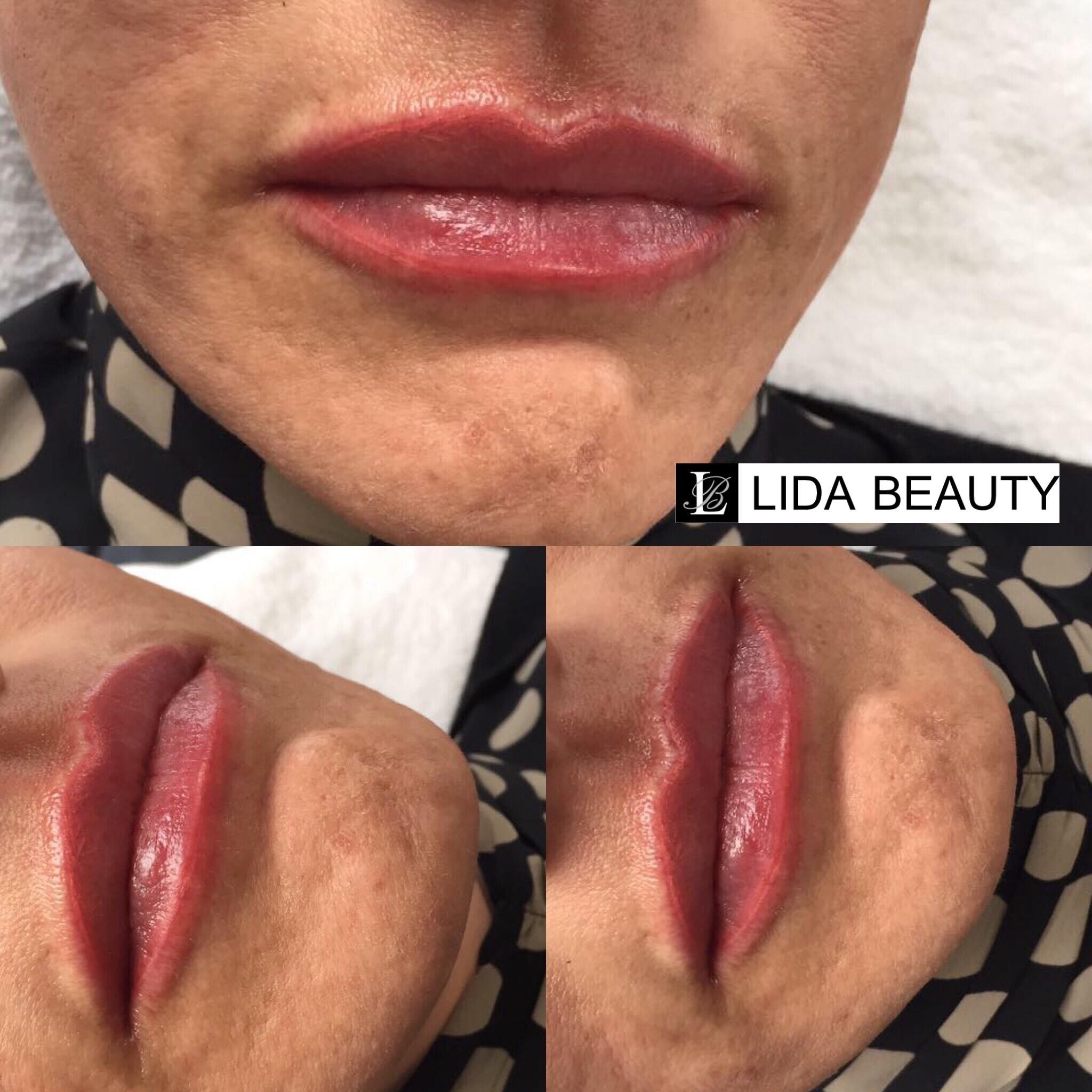 Lippen Vollschattierung